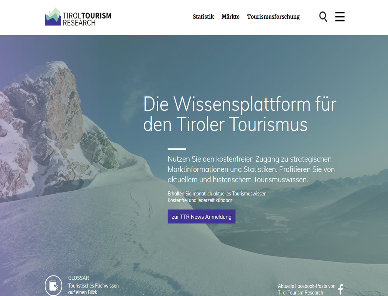 TTR 3.0 Tirol Tourism Research